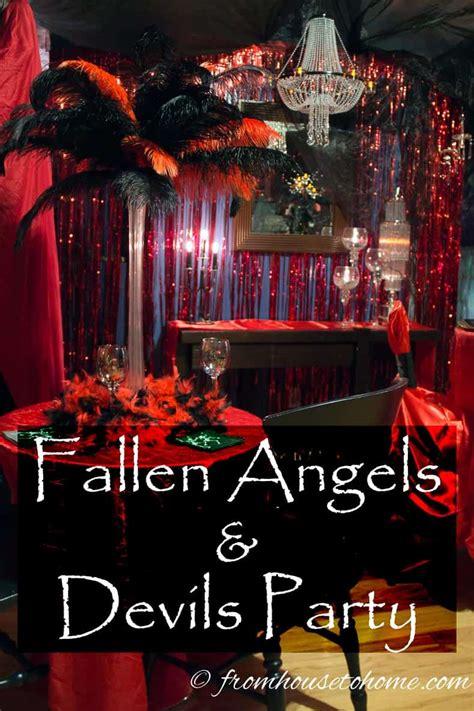 fallen angels  devils party ideas entertaining diva