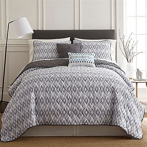 pacific coast pillows bed bath beyond pacific coast textiles tokyo quilt set in grey bed bath