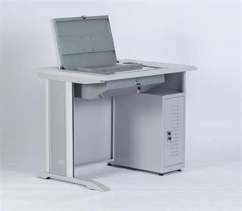 flip it computer desk computer bureau met afsluitbare flip up lcd houder en cpu