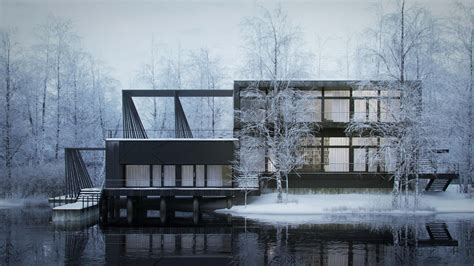 of nordic house 3d architectural visualization