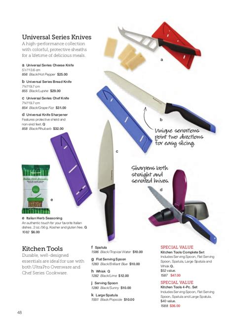 Chef Knife Tupperware tupperware summer 2015 catalog