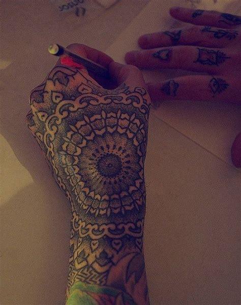 dotwork hand tattoo dotwork mandala hand tattoo tatts pinterest