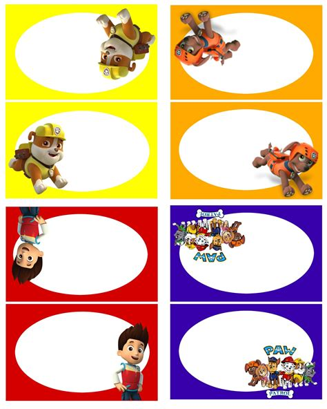 paw patrol thank you card template 10 ideas para organizar el mejor cumplea 241 os de la patrulla
