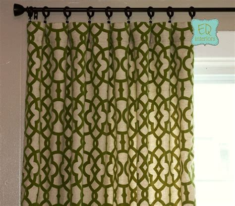 olive green curtains drapes hand made 84l x 50w flocked curtains trellis custom