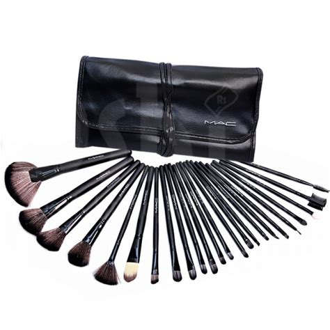 Makeup Brush Set Mac buy 24 mac makeup brush set with leather pouch mbs
