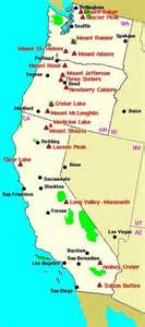 volcanoes in california map the pacific northwest volcanic fields of washington