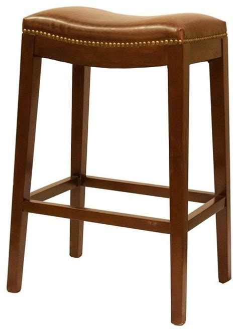 Leather Backless Bar Stools by New Bar Stool Leather Backless Fc 584 Traditional Bar