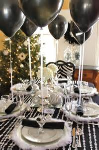 Decorating Ideas New Years 35 Black And White New Year S Table Decorations