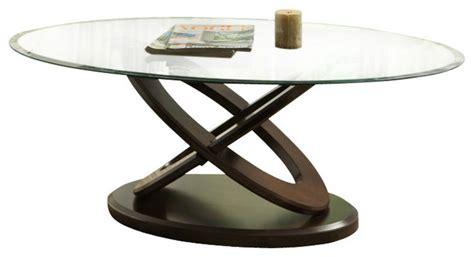 homelegance firth ii 3 oval glass coffee table set