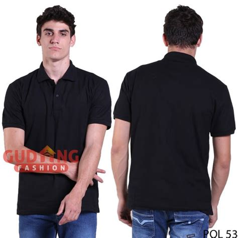 Polo Shirt Polos Kaos Polos Pique Cotton Pique kaos polo shirt lengan pendek keren cotton pique hitam