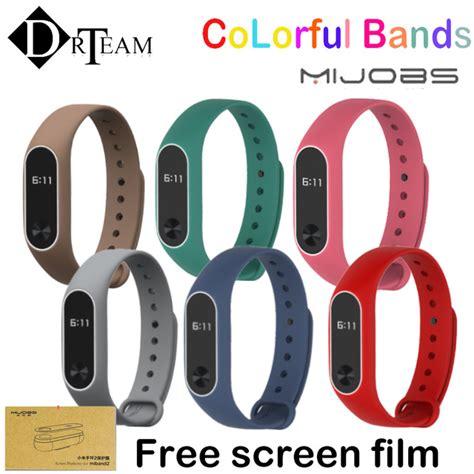 Mijobs Silicone Dual Color Mi Band 2 Wristband Original aliexpress buy xiaomi mi band 2 for mi band 2 silicone bracelet replacement