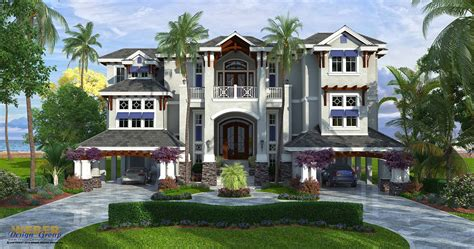 caribbean style house plans coastal house plan caribbean isle house plan weber design group