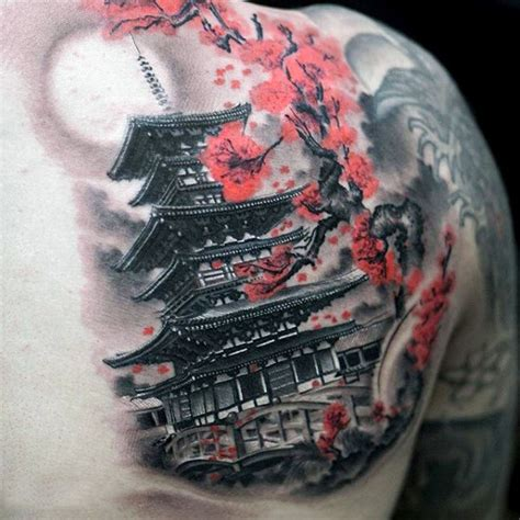 japanese temple tattoo 50 japanese temple designs for buddhist ink ideas