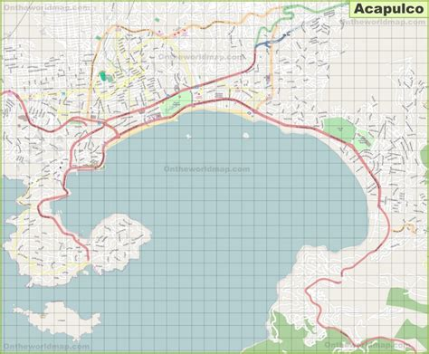 map acapulco mexico large detailed map of acapulco