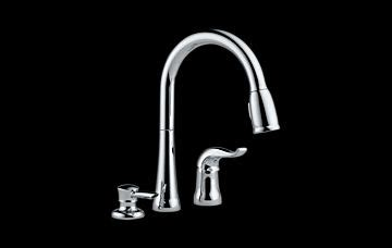 delta faucet 16970 sd dst kate single handle pulldown kitchen pull out spray faucet atg stores 16970 sd dst kate single handle pull down kitchen faucet