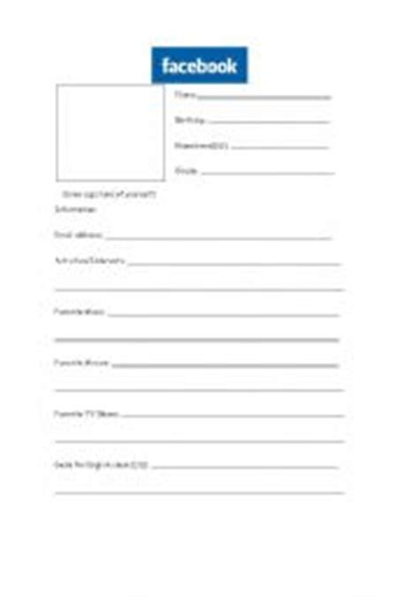 blank profile template best photos of blank template worksheet blank