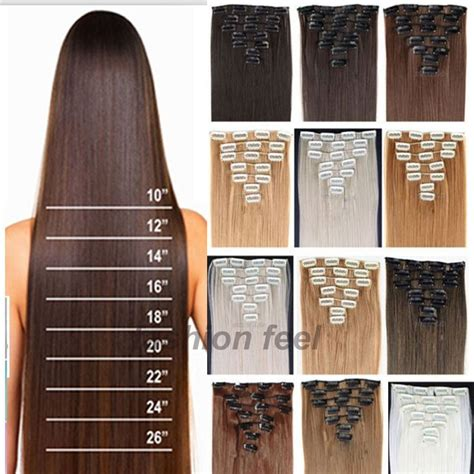 24in Hair | aliexpress com buy 24 26 inches premium quality clip in