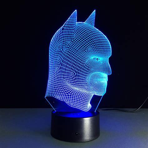7 color 3d illusion led batman l free shipping worldwide
