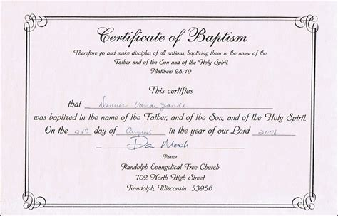 baptism certification letter baptism certificate templates for word aspects of