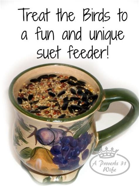 Make Your Own Suet Feeder bird suet feeders in a mug are and help keep squirrels out