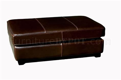wooden ottoman legs rectangular shape leather ottoman with wooden legs