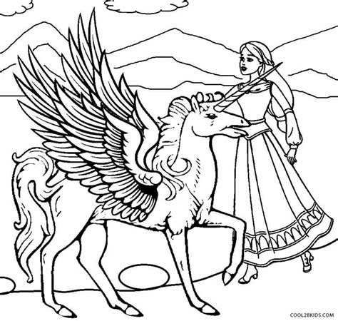 coloring pages of unicorns and pegasus free coloring pages of unicorn pegasus princess