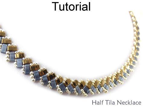 tila bead patterns beading tutorial pattern necklace miyuki half tila