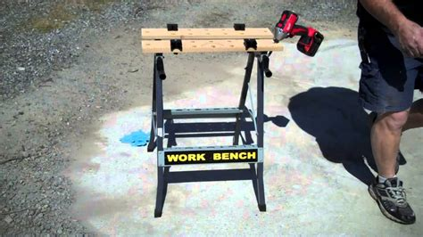harbor freight foldable workbench vise item  youtube