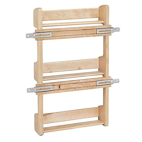 Cabinet Door Spice Rack Plans Rev A Shelf 4sr 18 Cabinet Door Mount Wood 3 Shelf Spice Rack Bed Bath Beyond