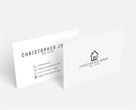 free real estate business card templates for word 20 newest creative beautiful free business card templates