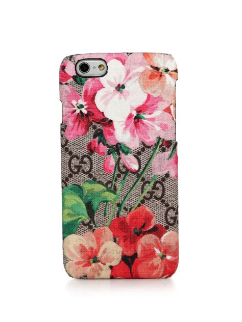 Iphone X Supreme Floral Pattern Hardcase gucci blooms gg supreme canvas iphone 6 in pink lyst
