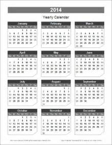 annual calendar template format yearly calendar template for 2016 and beyond