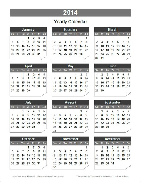 free yearly calendar template 2014 free printable calendar 2014 canada www proteckmachinery