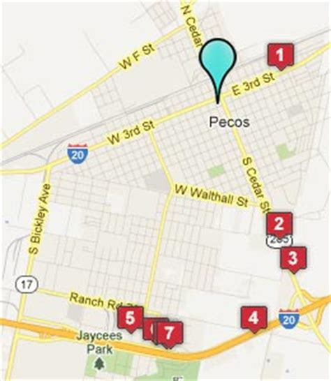 map of pecos texas pecos texas hotels motels see all discounts
