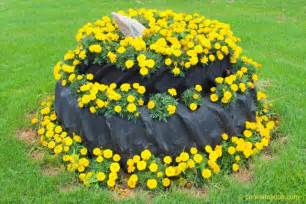Tire Flower Planters by Reused Tractor Tires Make Great Garden Beds Cookie