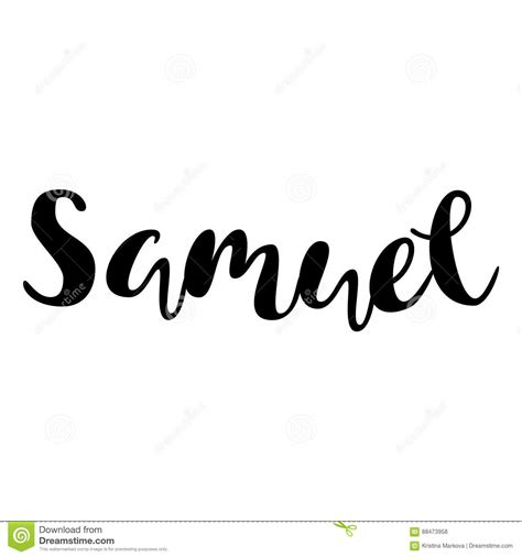 typography names name samuel lettering design handwritten typography ve stock vector image 88473958