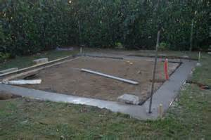 les fondations de mon abri de jardin construction d un