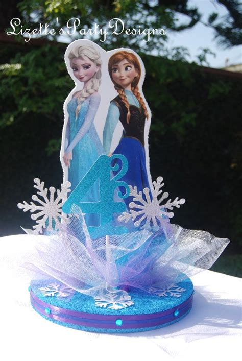12 inch frozen themed anna and elsa centerpiece elsa
