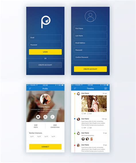social network layout psd download free application psd psd at downloadpsd cc