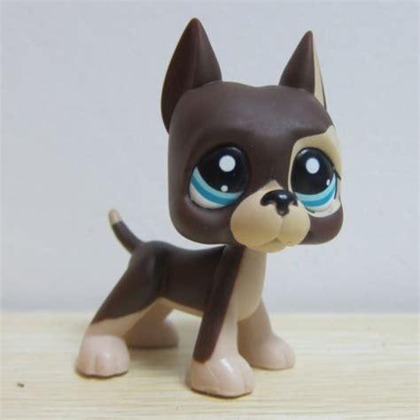 lps puppies hasbro littlest pet shop collection lps figure brown great dane puggy dane