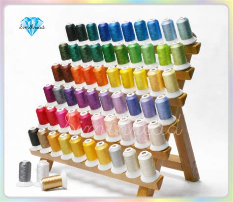 Jedora Emboidery Set 1 wholesale 63 colors polyester embroidery machine spools thread 550y each 1 lot 10 sets