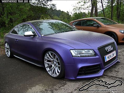cool matte violet wrapped audi s5 audi