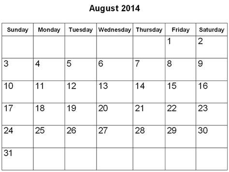 August Calendar 2014 August Phenomenon Cms
