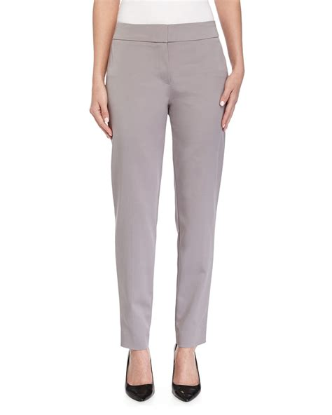 Tapered Pant escada tapered cropped silk blend in gray platinum