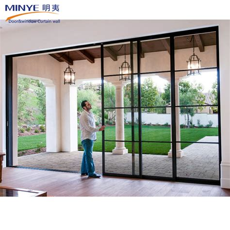 stacked sliding doors china supplier reflective stacking sliding glass doors