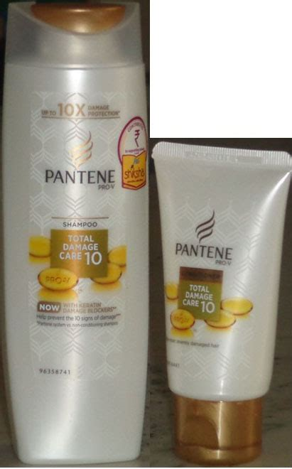 Harga Shoo Pantene Total Damage Care buy combo of pantene prov shoo total damage care 10