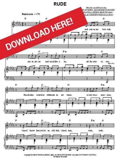tutorial gitar rude magic magic rude sheet music piano chords notes