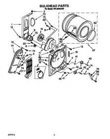 roper residential dryer parts model rel3636aw0