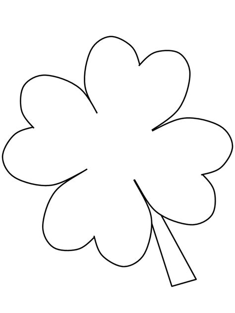 4 H Clover Coloring Pages by Clover Color Coloring Home