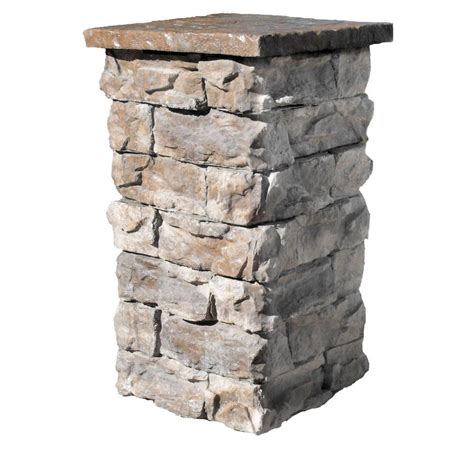 brown 36 in outdoor decorative column fscb36 the home depot